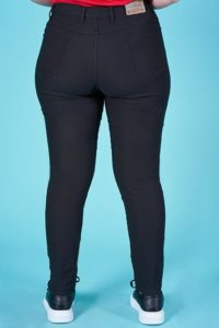 JEANS DONNA BLACK DENIM BANDA LATERALE
